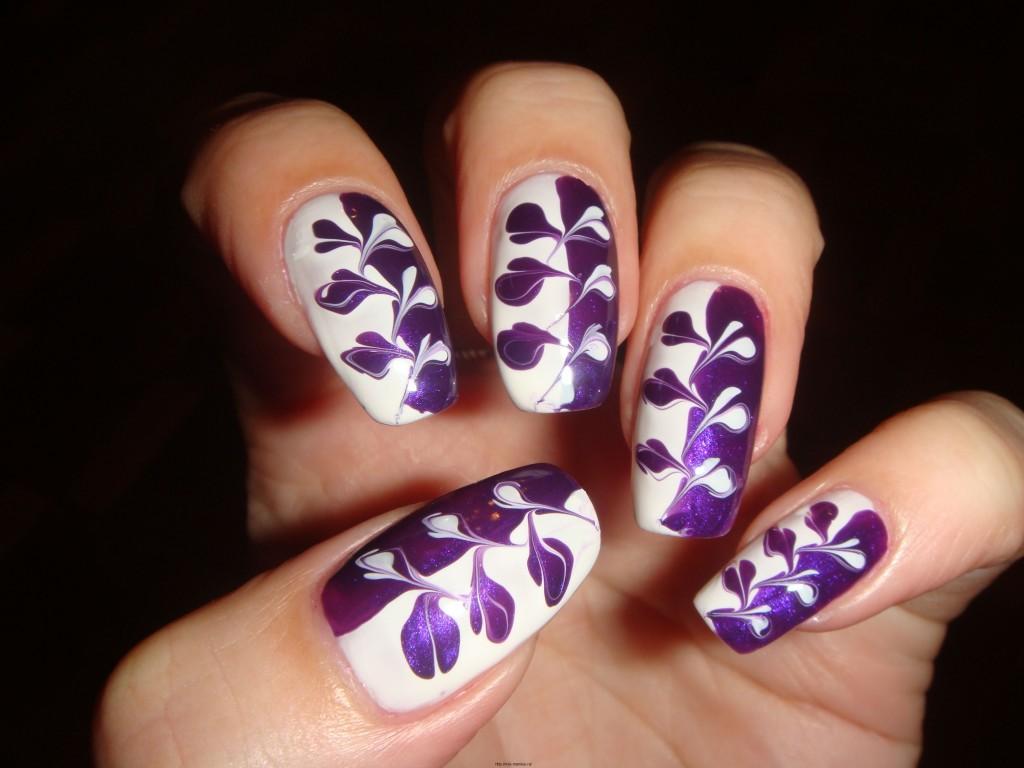 Дизайны на ногтях иголкой