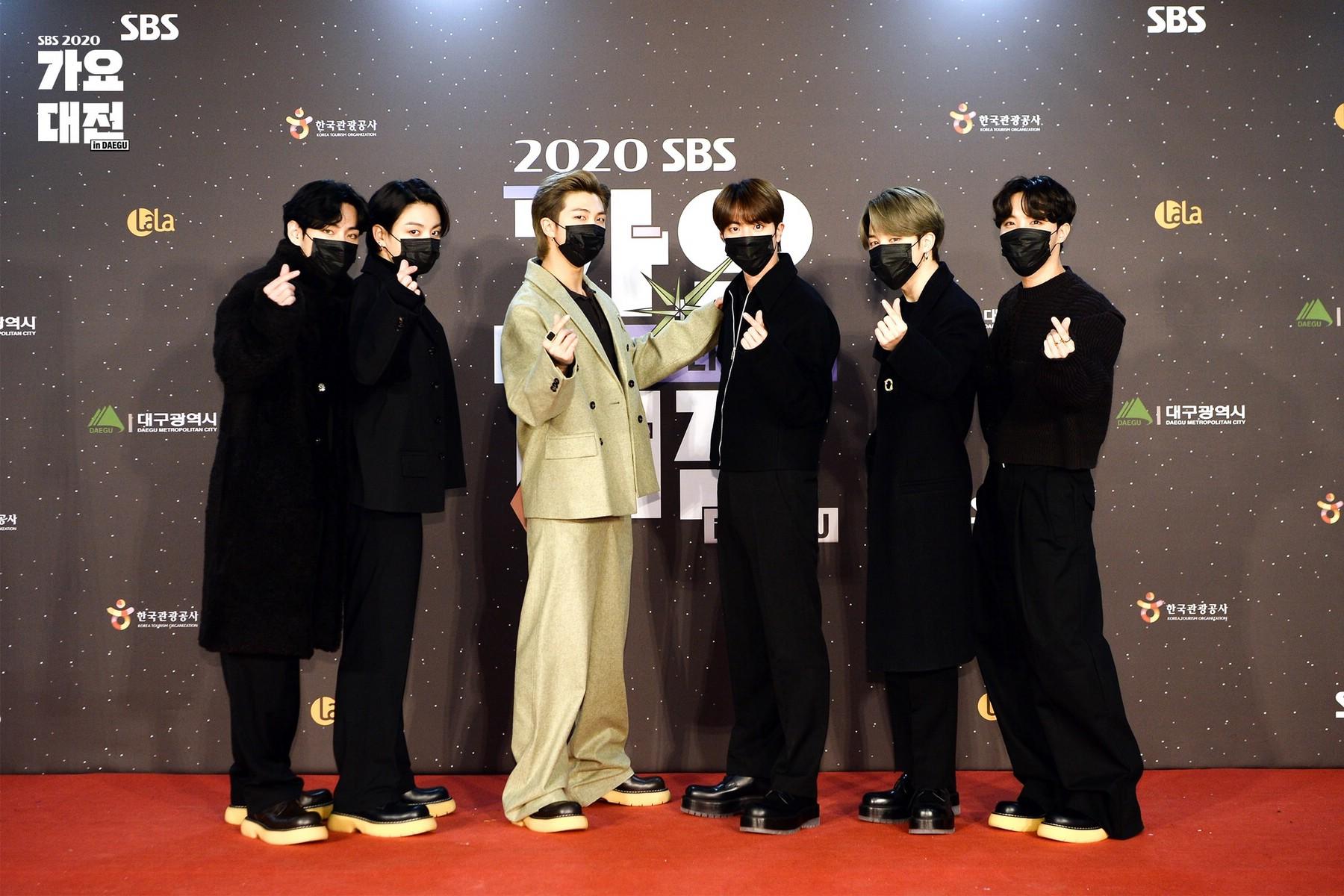 BTS на 2020 SBS Gayo Daejeon
