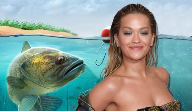 Рита Ора расслабляется с помощью рыбалки